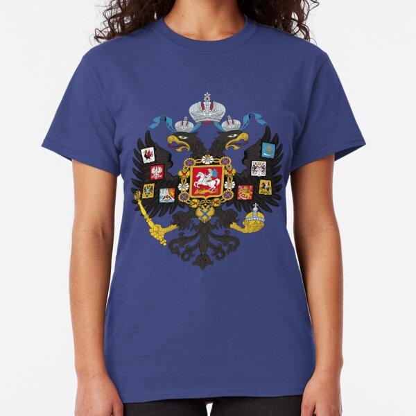 Russia Coat of Arms Double Eagle Russian Federation Symbol RUS RU Men/'s T-Shirt