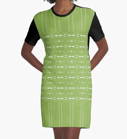 Date Night 2017 Green  Graphic T-Shirt Dress