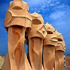 Sentinels of Gaudi on la Pedrera by Hercules Milas