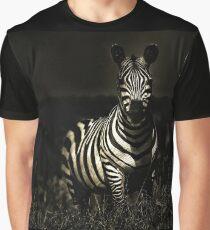 A wild zebra glaring at us Graphic T-Shirt