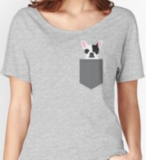 Parker - French Bulldog animal art modern colors for dog people Women's Relaxed Fit T-Shirt