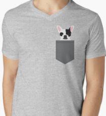 Parker - French Bulldog animal art modern colors for dog people Men's V-Neck T-Shirt
