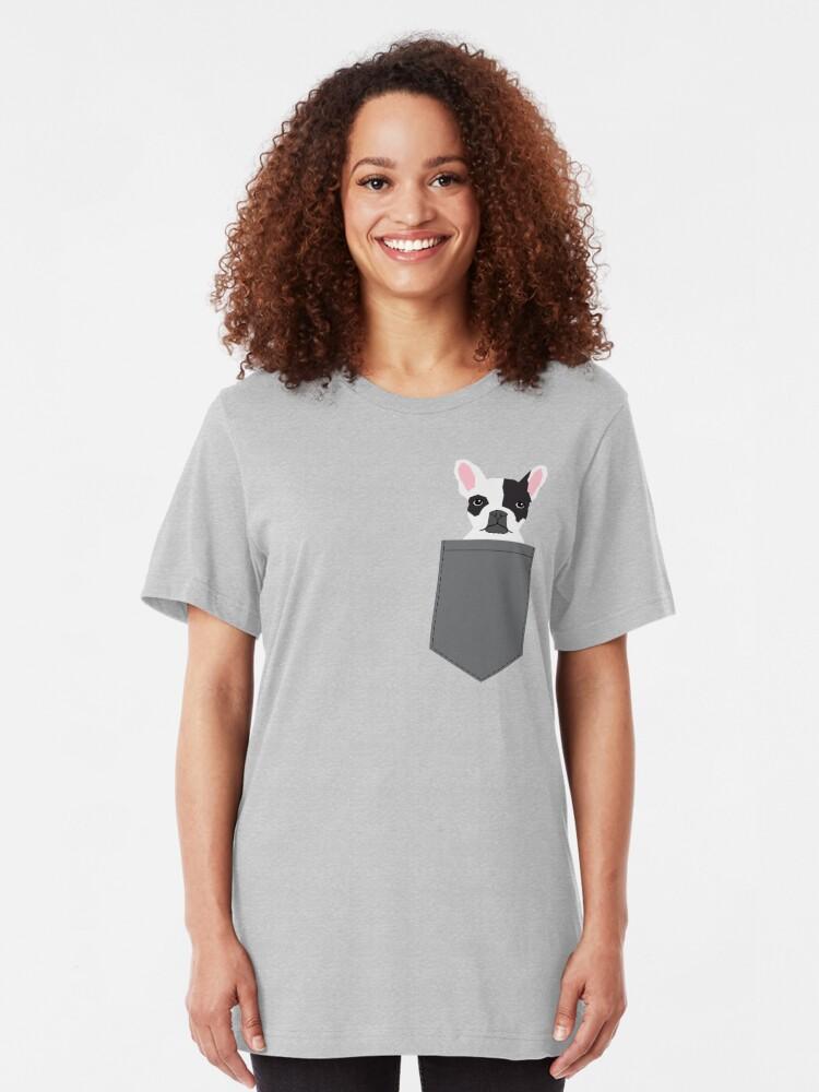 Alternative Ansicht von Parker - moderne Art der französischen Bulldogge Tierkunst für Hundeleute Slim Fit T-Shirt