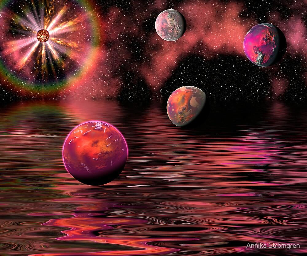 Red universe by Annika Strömgren