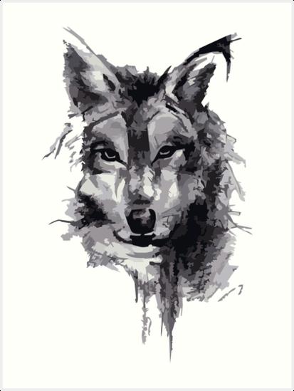Láminas Artísticas Dibujo A Lápiz De Lobo De Jack Wolf Redbubble