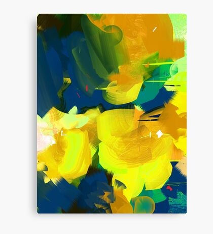 Summer #Abstract #Flowers Canvas Print