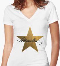 Hamilton Star  Women's Fitted V-Neck T-Shirt