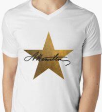 Hamilton Stern T-Shirt mit V-Ausschnitt