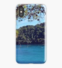 People in the water and boats in Portofino, Italy iPhone Case/Skin