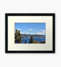 The beautiful blue water of Portofino, Italy Framed Print