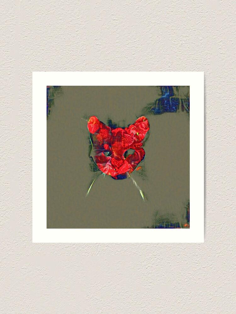 Alternate view of Ninja cat hiding in poppy #Art Art Print