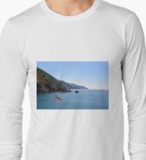 The beautiful landscape of Portofino  Italy with the blue water and the cliff shore T-Shirt