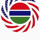 Gambian American Multinational Patriot Flag Series by Carbon-Fibre Media