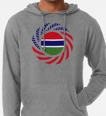 Gambian American Multinational Patriot Flag Series Lightweight Hoodie
