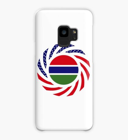 Gambian American Multinational Patriot Flag Series Case/Skin for Samsung Galaxy