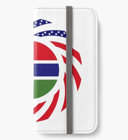 Gambian American Multinational Patriot Flag Series iPhone Wallet
