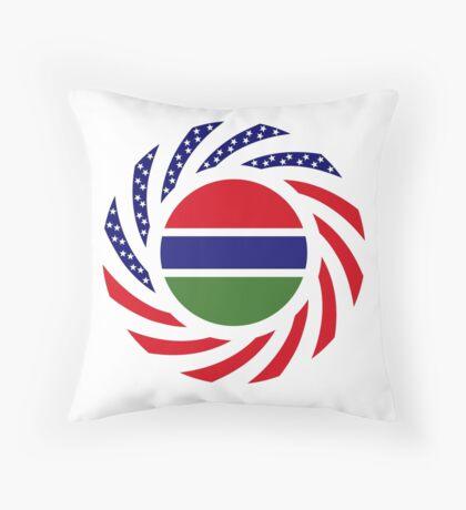 Gambian American Multinational Patriot Flag Series Throw Pillow