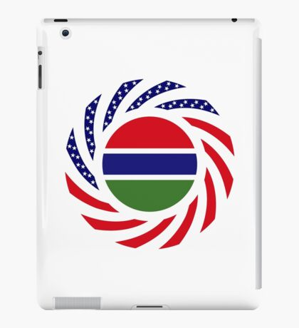 Gambian American Multinational Patriot Flag Series iPad Case/Skin