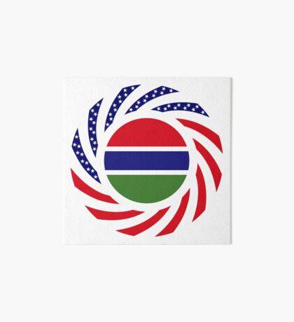 Gambian American Multinational Patriot Flag Series Art Board Print