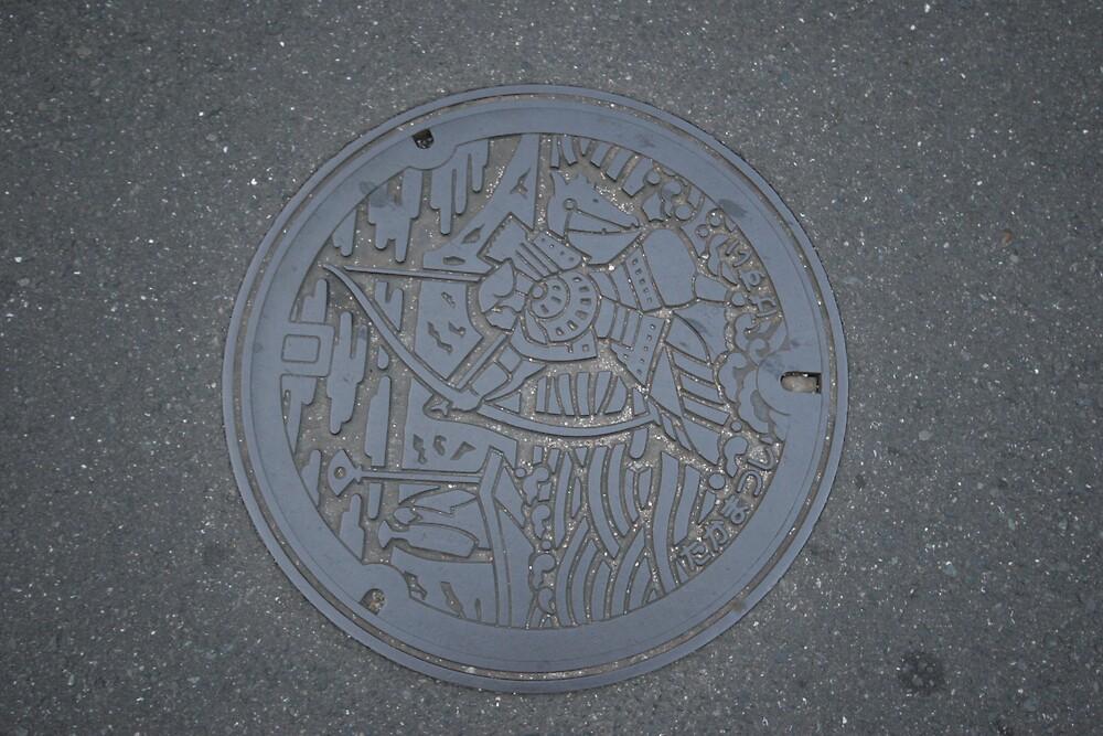 Man hole cover Takamatsu by Trishy