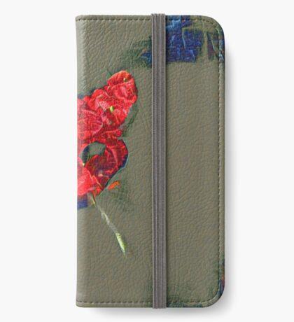 Ninja cat hiding in poppy #Art iPhone Wallet