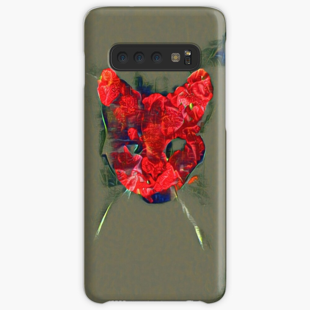 Ninja cat hiding in poppy #Art Case & Skin for Samsung Galaxy