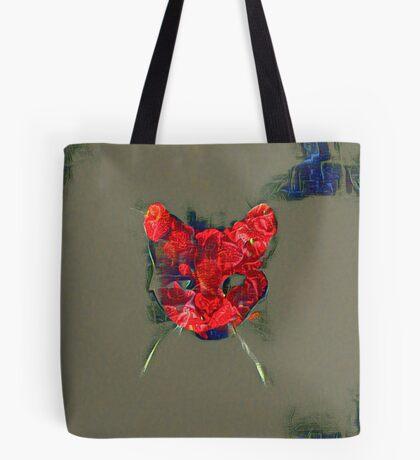 Ninja cat hiding in poppy #Art Tote Bag