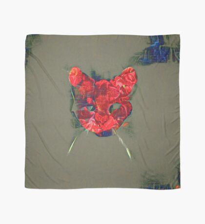Ninja cat hiding in poppy #Art Scarf