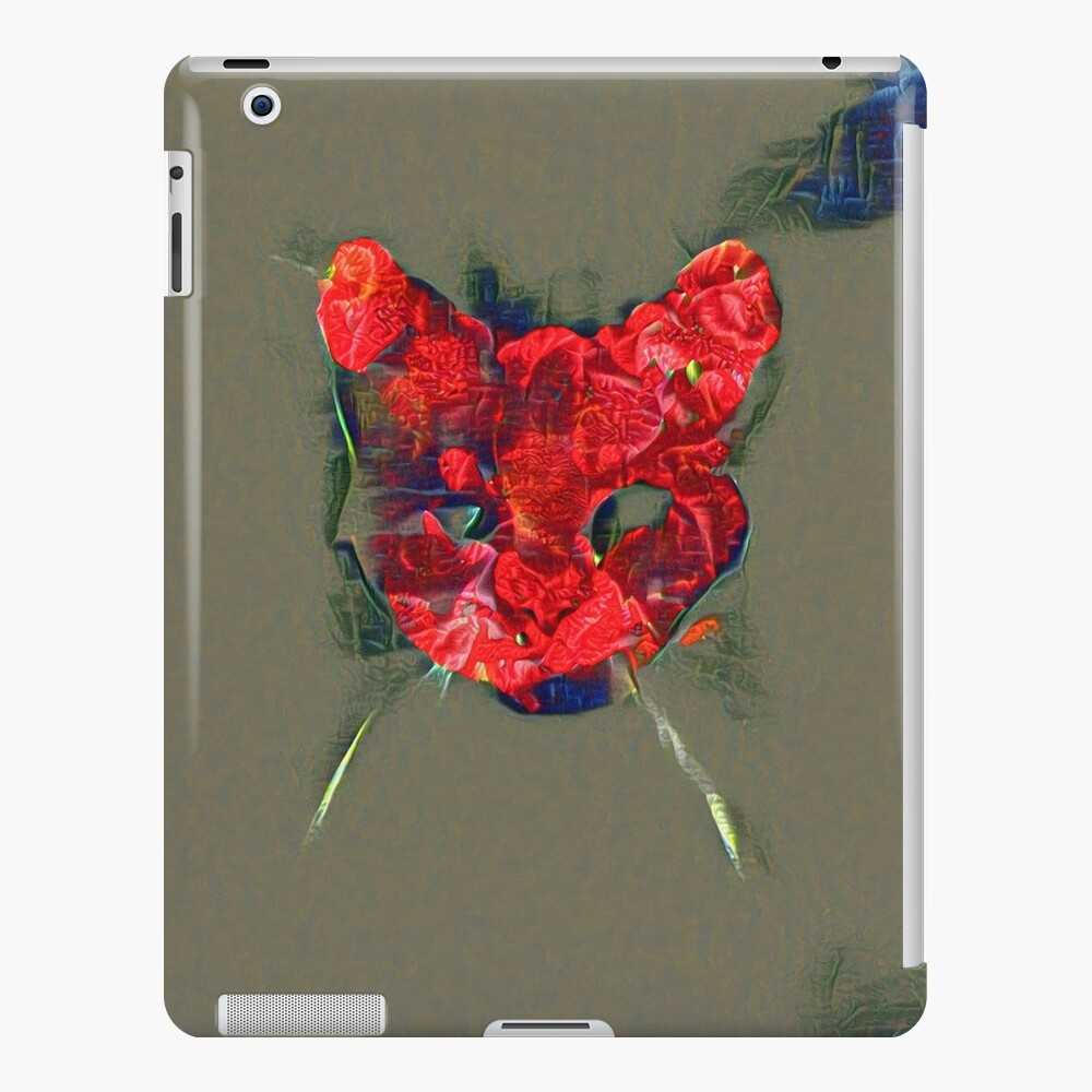Ninja cat hiding in poppy #Art iPad Case & Skin