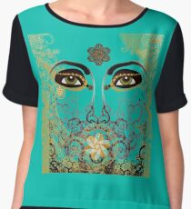 The Eyes of Time Chiffon Top