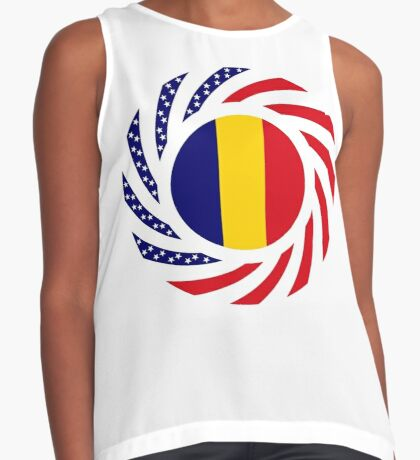 Chad American Multinational Patriot Flag Series Sleeveless Top