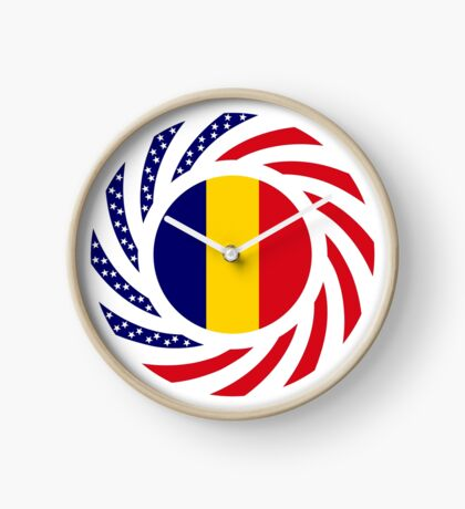 Chad American Multinational Patriot Flag Series Clock