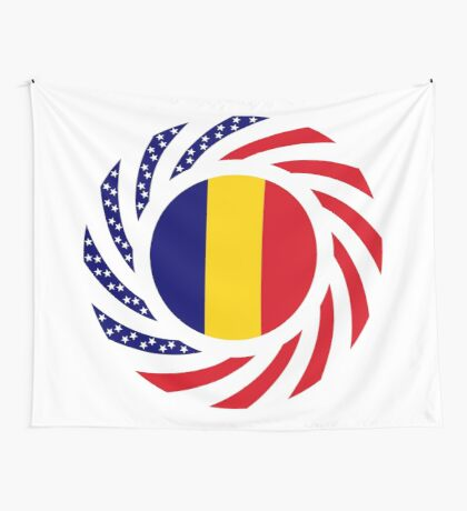 Chad American Multinational Patriot Flag Series Wall Tapestry