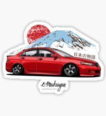 Honda Accord VII (red) Sticker