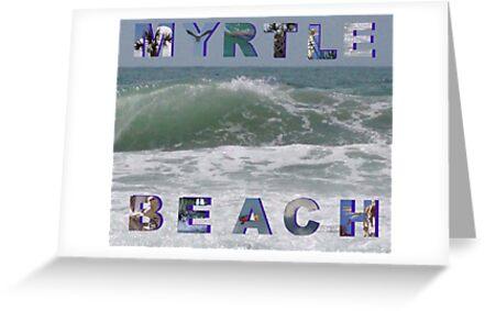 Myrtle Beach Postcard by Johanna  Rutter