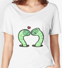 cartoon snakes in love Women's Relaxed Fit T-Shirt