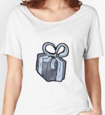cartoon birthday present Women's Relaxed Fit T-Shirt