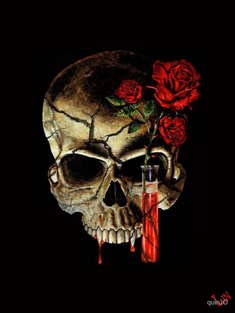 Skull Rose by quin10