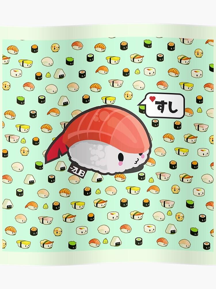 KAWAII SUSHI // <3 SUSHI // SHRIMP VARIANT | Poster