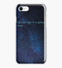 star wars in a galaxy far far away iPhone Case/Skin