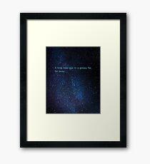 star wars in a galaxy far far away Framed Print