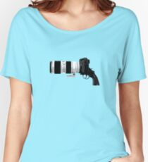 Shoot! (White Barrel) Women's Relaxed Fit T-Shirt