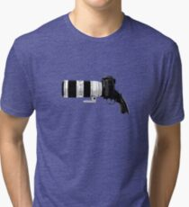 Shoot! (White Barrel) Tri-blend T-Shirt