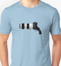 Shoot! (White Barrel) Unisex T-Shirt