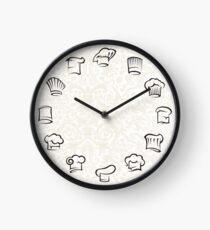 Restaurant Chef's Hat Round Graphic Design Clock