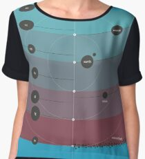 Space Infographic - Trappist-1 Women's Chiffon Top