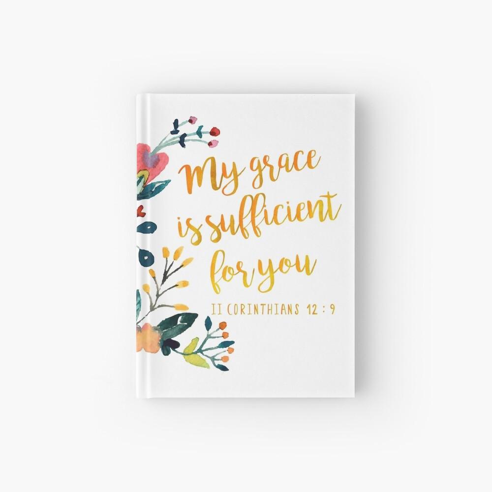 II Corintios 12: 9 Cuaderno de tapa dura