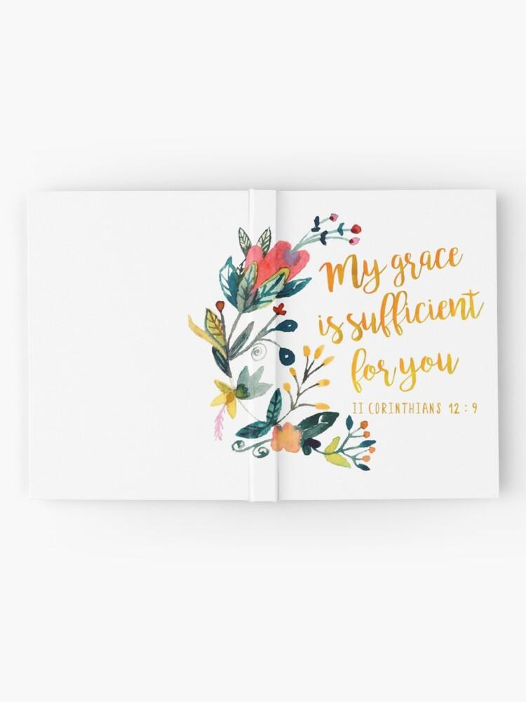 Vista alternativa de Cuaderno de tapa dura II Corintios 12: 9