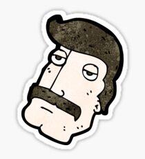 cartoon man with impressive mustache Sticker