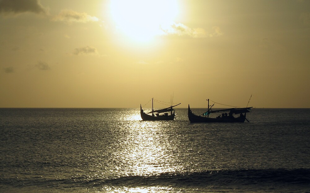Balinese Sunset by grimbomid